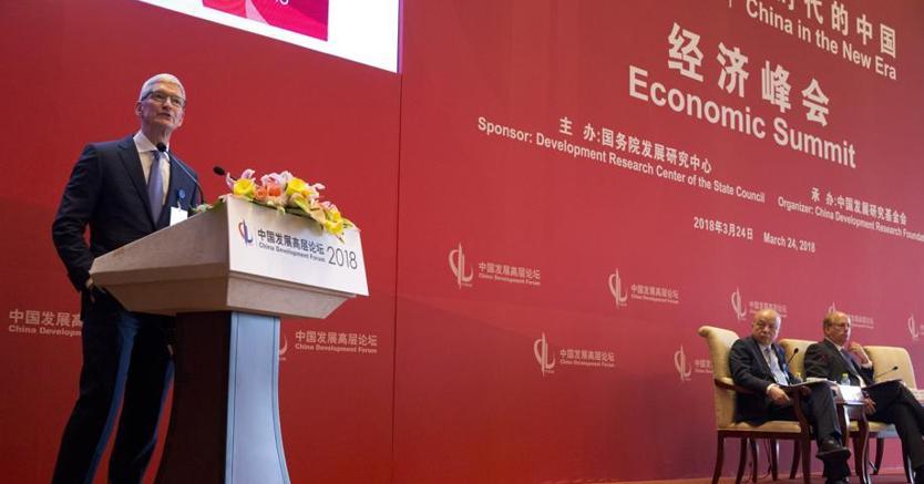 Tim Cook a Pechino